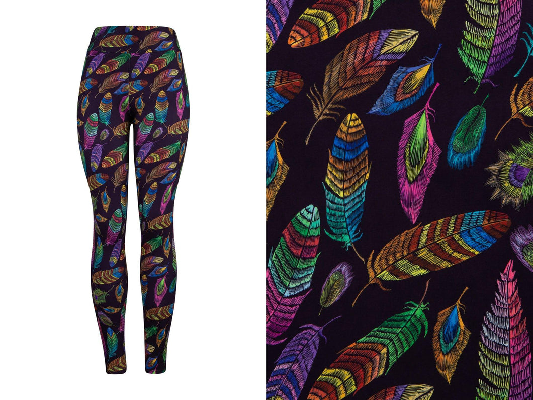 Natopia Deluxe Feathers of Freedom Leggings One Size Fits 8-14