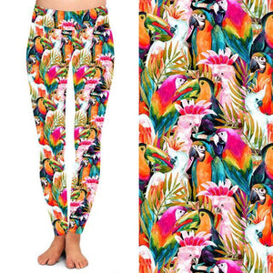 Natopia Deluxe Birds of a Feather Leggings  Curvy Plus Size Fits Size 16-20