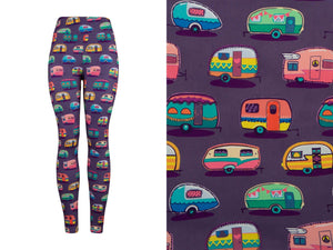 Natopia Deluxe Caravan of Colours Leggings Plus Size Fits 16-20