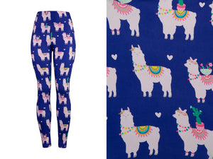 Natopia Deluxe Llama Love Leggings Kids Size L/XL (7-12 Years)