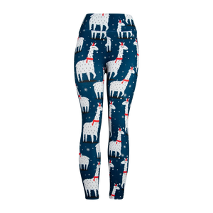 Natopia Ultimate Christmas Llama Extra Curvy Plus Size Leggings Size 22-28