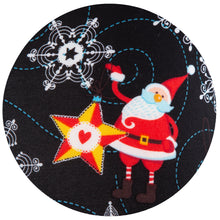 Santa in the Stars Natopia Christmas Leggings One Size Fits Size 8-14