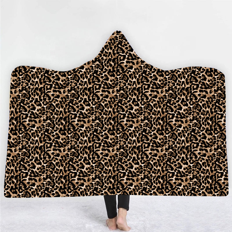 Natopia Lazy Leopard Hooded Blanket