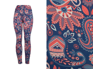 Natopia Deluxe Paisley Perfection Leggings Curvy Plus Size Fits 16-20
