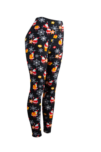 Santa in the Stars Natopia Christmas Leggings Curvy Plus Size Fits Size 16-22