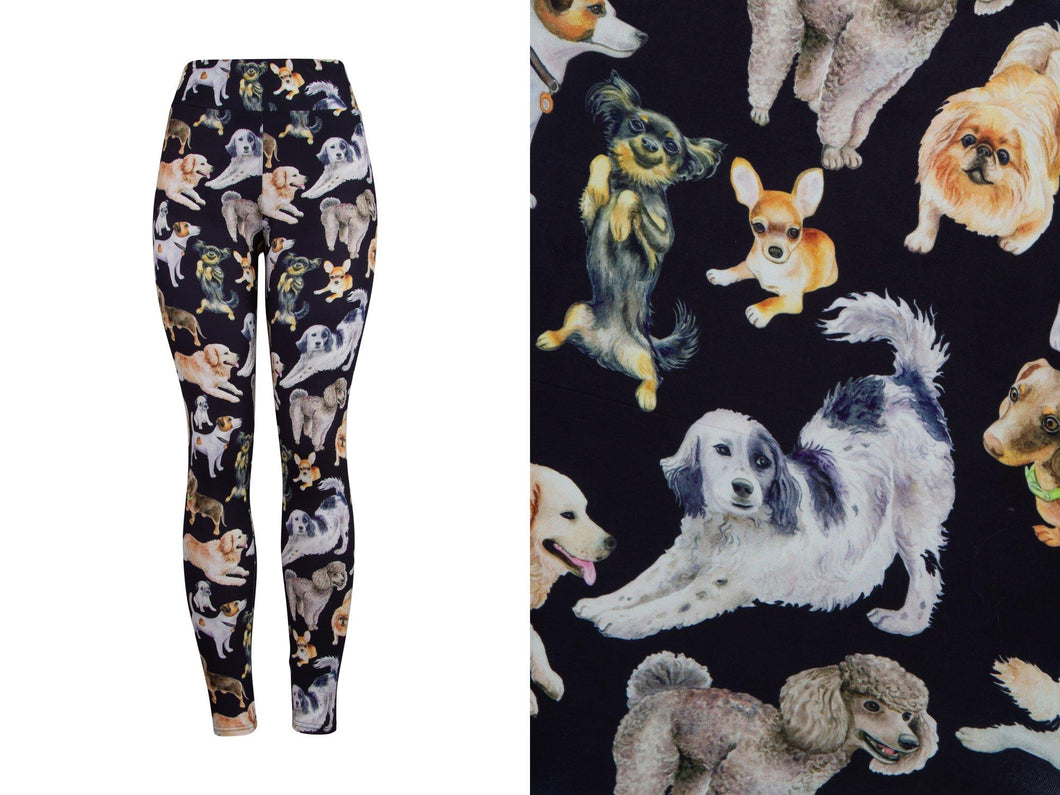 Natopia Deluxe Dog Dynasty Leggings Curvy Plus Size Fits 16-20