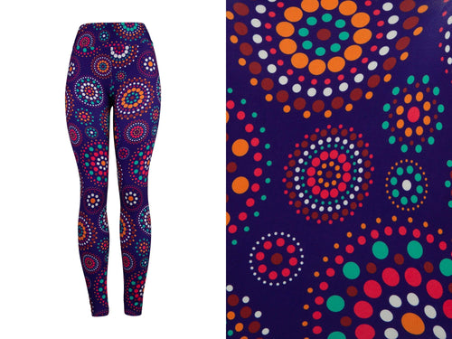 Natopia Deluxe Dots in Spots Leggings Curvy Plus Size Fits 16-20