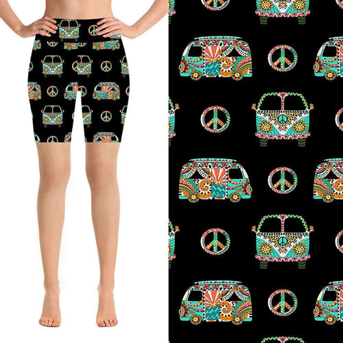 Natopia Deluxe Peace Out Kombi Shorts One Size Fits 8-14 - natopia