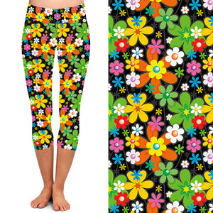 Natopia Deluxe Power to the Flower Capri Extra Curvy Fits 22-26