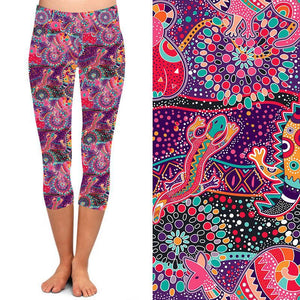 Natopia Deluxe Native Animals Capri Extra Curvy Fits Size 22-26