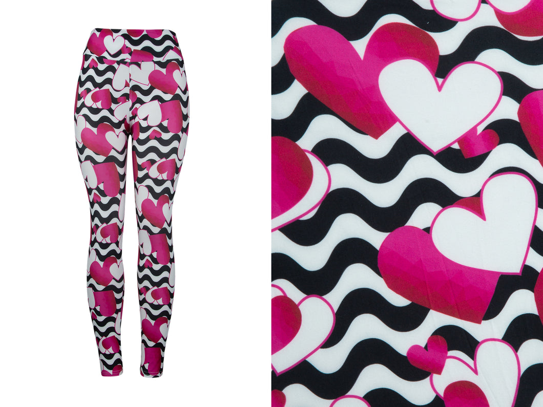 Natopia Deluxe Sweethearts Leggings Curvy Plus Size Fits 16-22