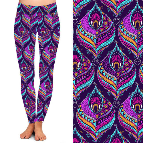 Pretty Peacock Deluxe Leggings - natopia