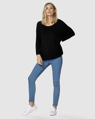 Milan 3/4 Sleeve Top by Betty Basics