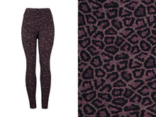 Natopia Super Soft Pink Leopard Leggings One Size Fits 8-14