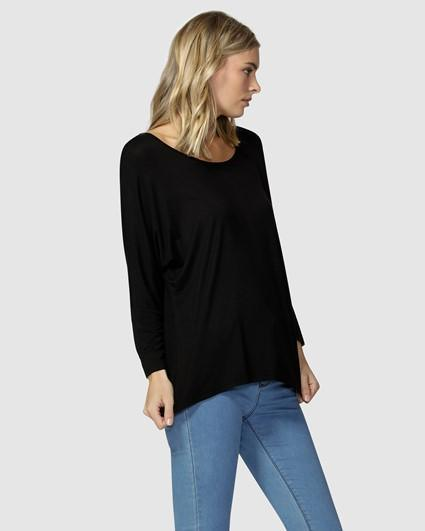 Milan 3/4 Sleeve Top by Betty Basics - natopia