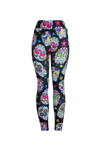 Natopia Ultimate Sugar Skulls Extra Curvy Plus Size Leggings Size 22-28