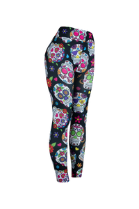 Natopia Ultimate Sugar Skulls Extra Curvy Plus Size Leggings Size 22-28 - natopia