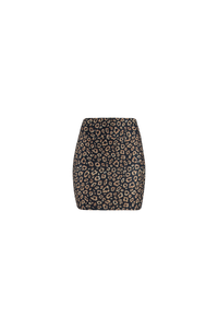 Natopia Lovely Leopard Mini Skirt Curvy Plus Size Fits 16-22