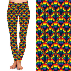 Natopia Deluxe Rainbow Scale Leggings Curvy Plus Size Fits Size 16-20