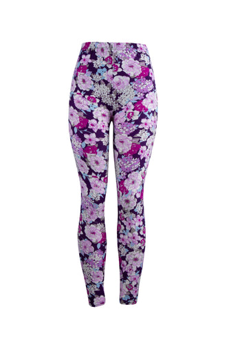 Purple Vase Natopia Leggings One Size Fits Size 8-14