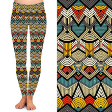 Natopia Deluxe African Wax Print Leggings One Size Fits 8-14