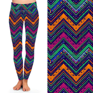 Natopia Deluxe Zesty Zigzag Leggings One Size Fits 8-14