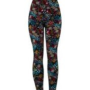 Natopia Botanical Bliss Leggings Exclusive Print Extra Curvy Plus Size Fits Size 22-28