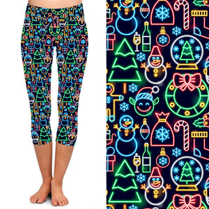 PRE-ORDER Natopia Deluxe The Boulevard Lights Capri Leggings Extra Curvy Plus Size Fits 22-26