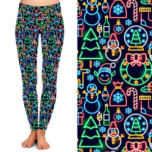 Pre-order Natopia Deluxe The Boulevard Lights Leggings One Size Fits 8-14