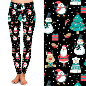 Natopia Deluxe Santa Is Coming Leggings One Size Fits 8-14