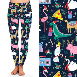 Natopia Deluxe Christmas Party Leggings One Size Fits 8-14