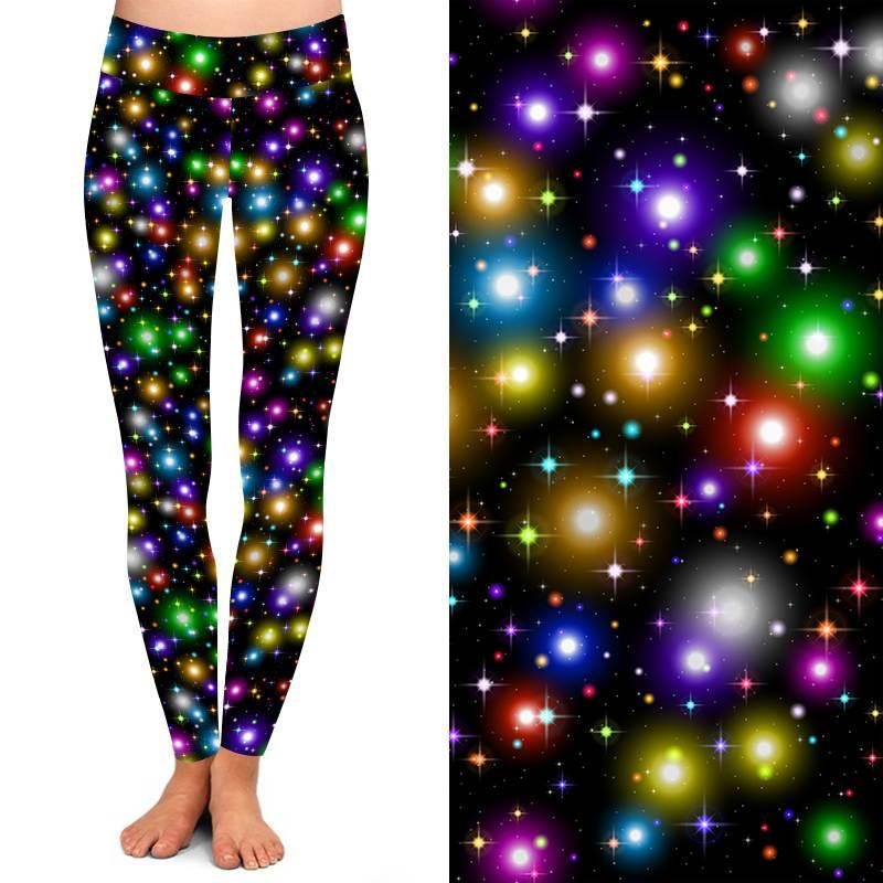 Natopia Deluxe Disco Lights Leggings Curvy Plus Size Fits 16-20