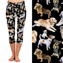 Natopia Deluxe Dog Dynasty Capri Leggings One Size Fits 8-14