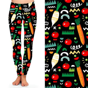 Natopia Deluxe Eat Your Veggies Leggings One Size Fits 8-14