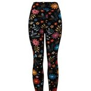 Natopia Flower Etching Leggings Plus Size Fits 16-22