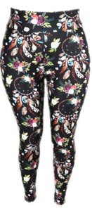 Natopia Ultimate Flowers and Dreamcatchers Extra Curvy Plus Size Leggings Size 22-28