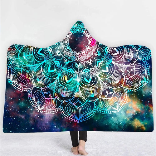 Natopia Galaxy Mandala Hooded Blanket