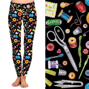 Natopia Deluxe Get Your Craft On Leggings One Size Fits 8-14