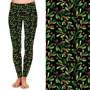 Natopia Deluxe A Berry Merry Christmas Leggings One Size Fits 8-14