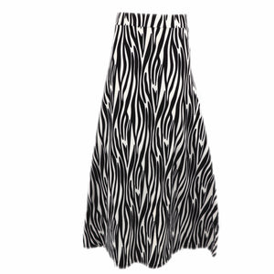 Natopia Super Soft Jungle Zebra Maxi Skirt One Size Fits 8-14