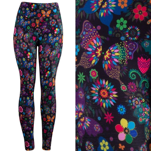 Natopia Deluxe Butterfly Kisses Leggings Exclusive Print Curvy Plus Size Fits Size 16-20