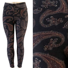Natopia Super Soft Rustic Paisley Leggings One Size Fits Size 8-14