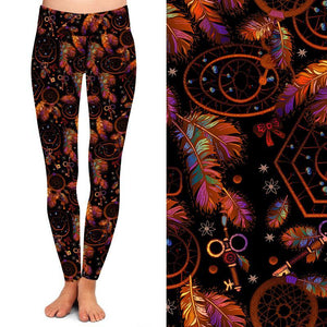 Natopia Deluxe Keys To Your Dreamcatcher Leggings One Size Fits 8-14