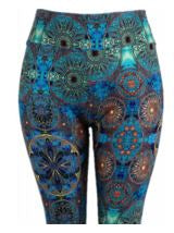 Natopia Ultimate Leggings Turkish Mandala Extra Curvy Plus Size Leggings Size 22-28