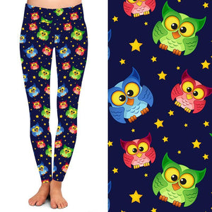 Natopia Deluxe Owls All Around Leggings Curvy Plus Size Fits 16-20