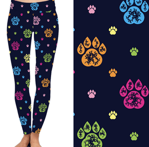Natopia Deluxe Paws Paws Paws Leggings One Size Fits 8-14