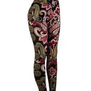 Natopia Perfect Paisley Leggings Curvy Plus Size Fits 16-22