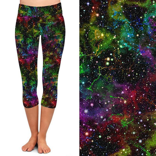 Natopia Deluxe Out Of This World Capri  Curvy Plus Size Fits 16-20