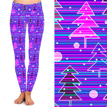 Natopia Deluxe Purple Christmas Haze Leggings Extra Curvy Plus Size Fits 22-26