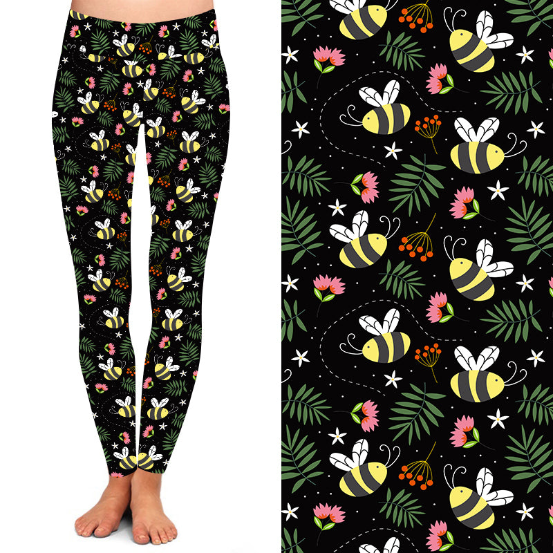 Natopia Deluxe Save The Bees Leggings One Size Fits 8-14